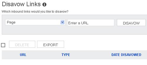 Bings Disavow Links Tool