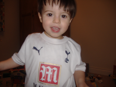 Young Spurs Fan Nicholas