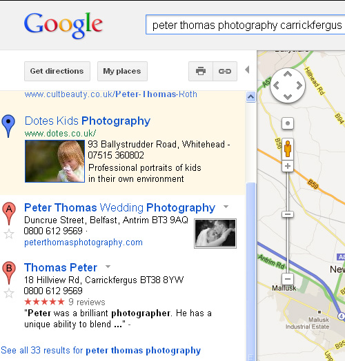 duplicate listing google places