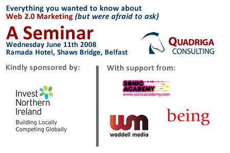 web marketing seminar to be held in Belfast
