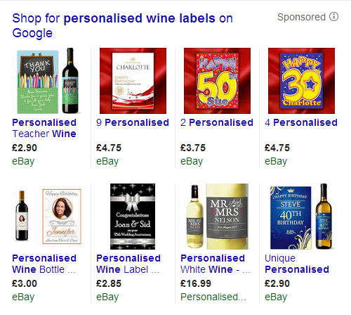google shopping for wine labels 2014