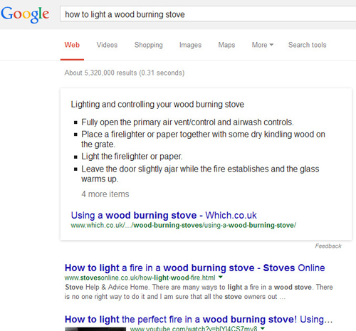 google scraping content
