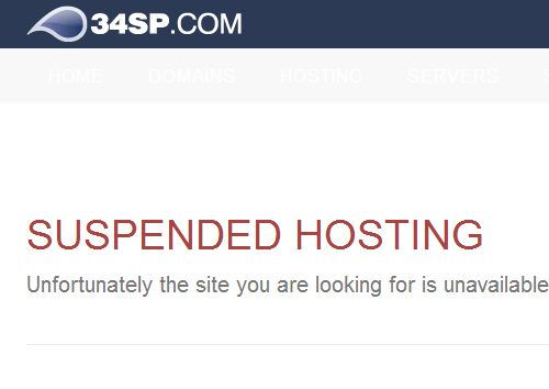 hosting suspended dropped from google's index