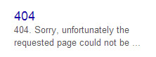 404 showing in a sitelink