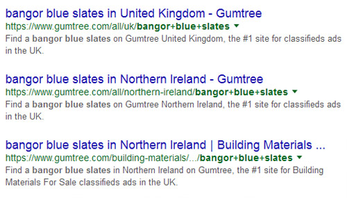 multiple listings in the SERPS