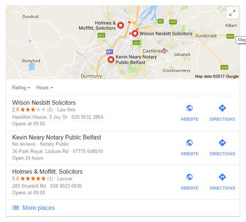 google my business showing stars for 1 review